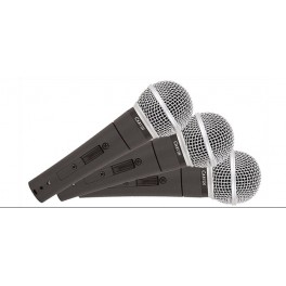 M50-3 UNIDIRECTIONAL DYNAMIC VOCAL MICROPHONE (SET OF 3)